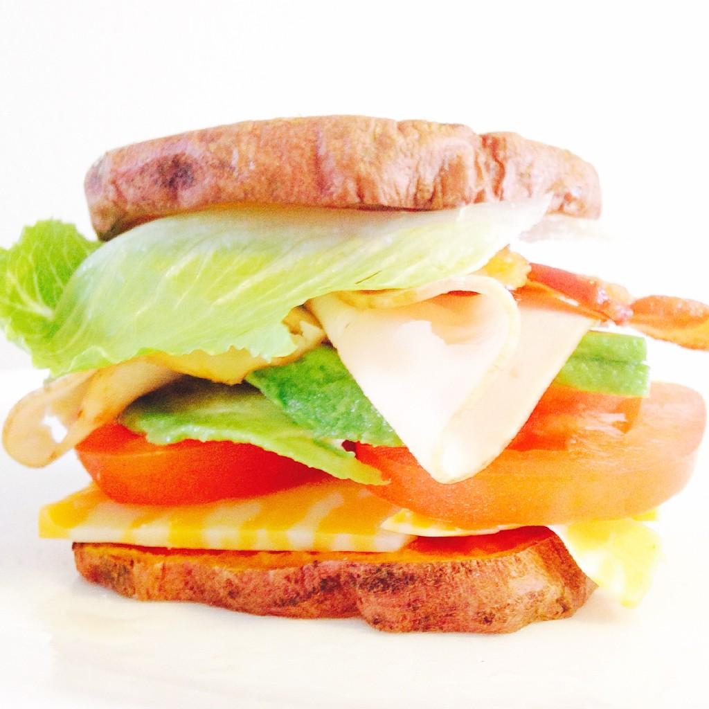 California Sweet Potato Club Sandwich
