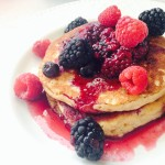 Berry Syrup Pancakes