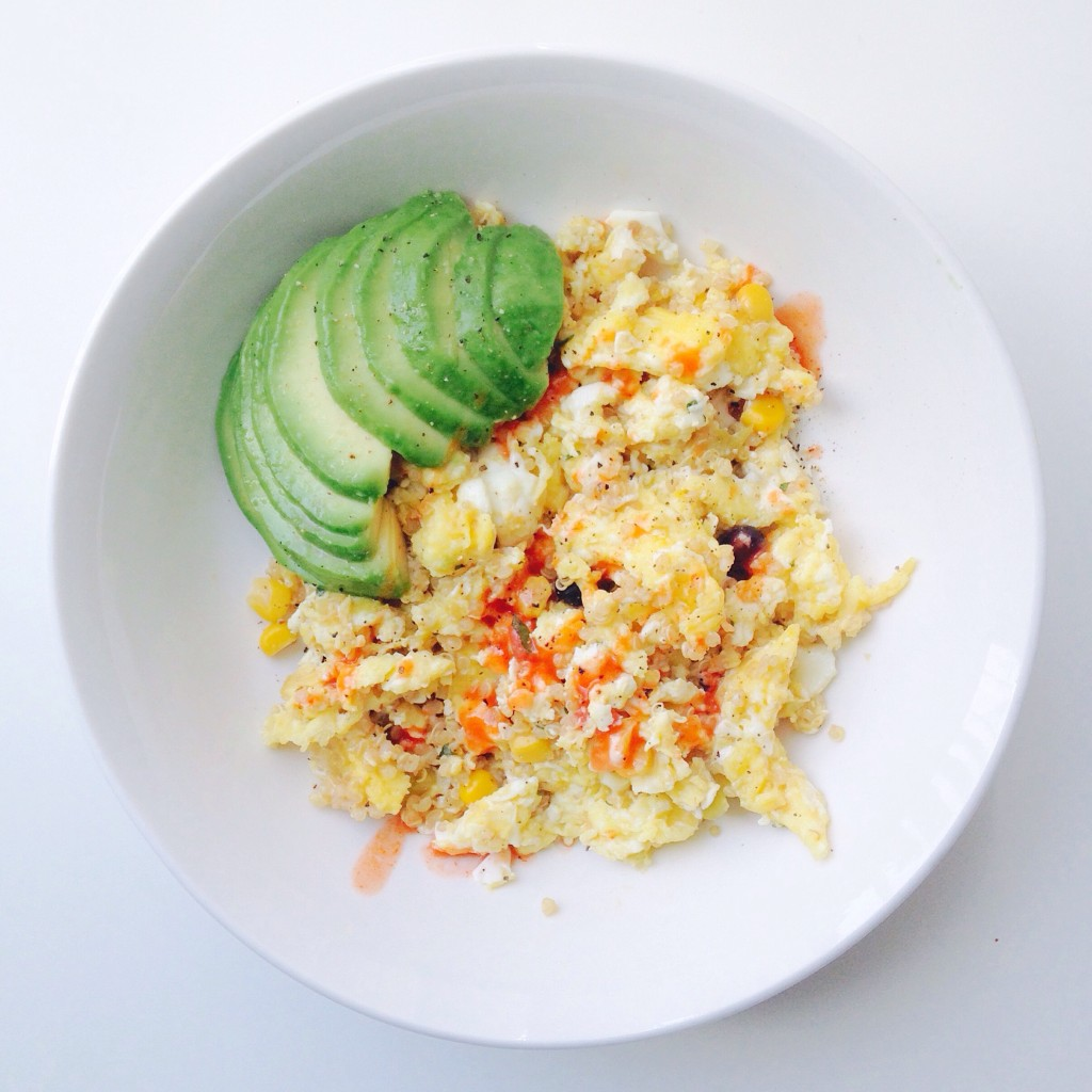 Mexican Quinoa Egg Scramble